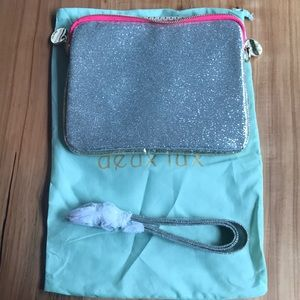 NEVER USED Silver Sequined iPad Case